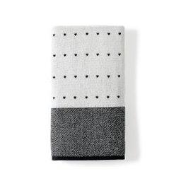 image-DKNY Triangle Stripe Hand Towel, White