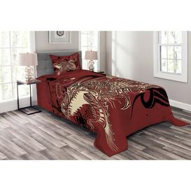 image-Cassan Dragon Bedspread Set with Cushion Cover Bloomsbury Market