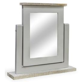 image-Ashen Painted Grey Furniture Dressing Table Mirror