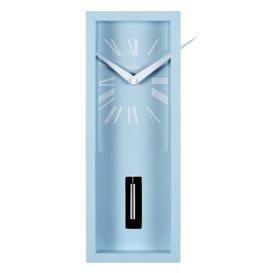 image-Ulrik Pendulum Wall Clock in Soft Blue Acctim