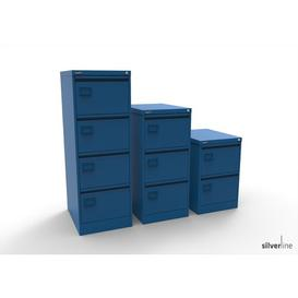 image-3 Drawer Filing Cabinet Symple Stuff Colour: Blue