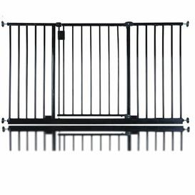 image-Bella Vista Pressure Mounted Pet Gate Archie & Oscar Colour: Black, Size: 135-140cm