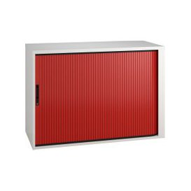 image-Campos Low Tambour Unit (Red), Red, Free Standard Delivery