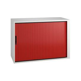 image-Campos Low Tambour Unit (Red), Red