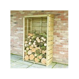 image-Shire Tall Wall Log Store Sawn Pressure Treated