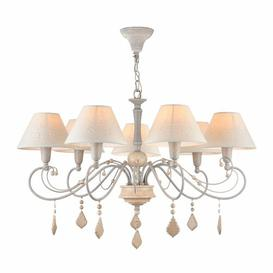 image-Gaven 7-Light Shaded Chandelier Lily Manor