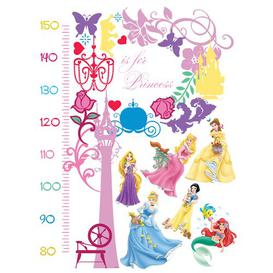 image-Princesses Growth Chart Wall Sticker Disney Princess