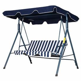 image-Wimbish Swing Seat Sol 72 Outdoor Canopy Colour: Blue/White