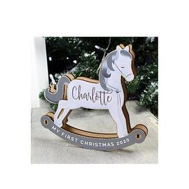 image-Personalised My First Christmas Decoration Rocking Horse