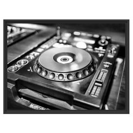 image-Green Lit DJ Decks Framed Art Print East Urban Home Size: 60cm H x 80cm W