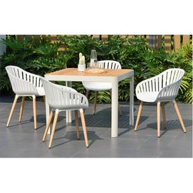 image-Cannes - Garden Dining Set - 4 Seats - White