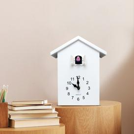 image-ZipCode Design Cuckoo Tabletop Clock Zipcode Design Finish: White/White Window