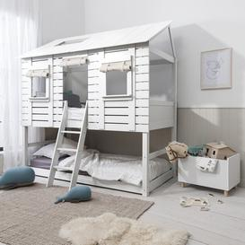 image-Treehouse Midsleeper Frame with Underbed in White