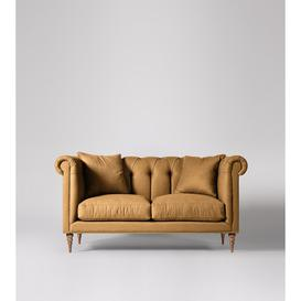image-Swoon Milward Two-Seater Sofa in Turmeric Smart Wool With Light Feet