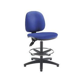 image-Enterprise Medium Back Draughtsman Chair, Blue