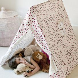 image-Playtent with Fuschia Hearts Design