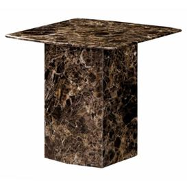image-Rosetta Natural Stone Marble Lamp Table With Lacquer Finish