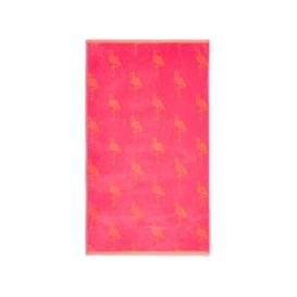 image-Pure Cotton Flamingo Beach Towel