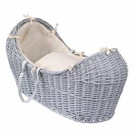 image-Waffle Moses Basket Clair De Lune Colour: Cream, Finish: Grey