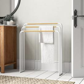 image-Free Standing Towel Rack Yamazaki Finish: White