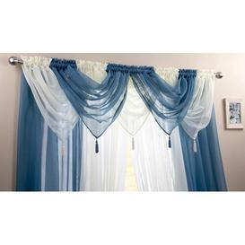 image-Maloy 56cm Curtain Pelmet Bloomsbury Market Colour: Ivory