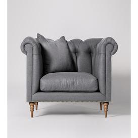 image-Swoon Milward Armchair in Pepper Smart Wool With Light Feet