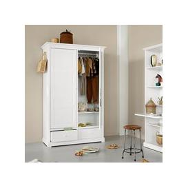image-Oliver Furniture Seaside Children's Luxury 2 Door Wardrobe in White