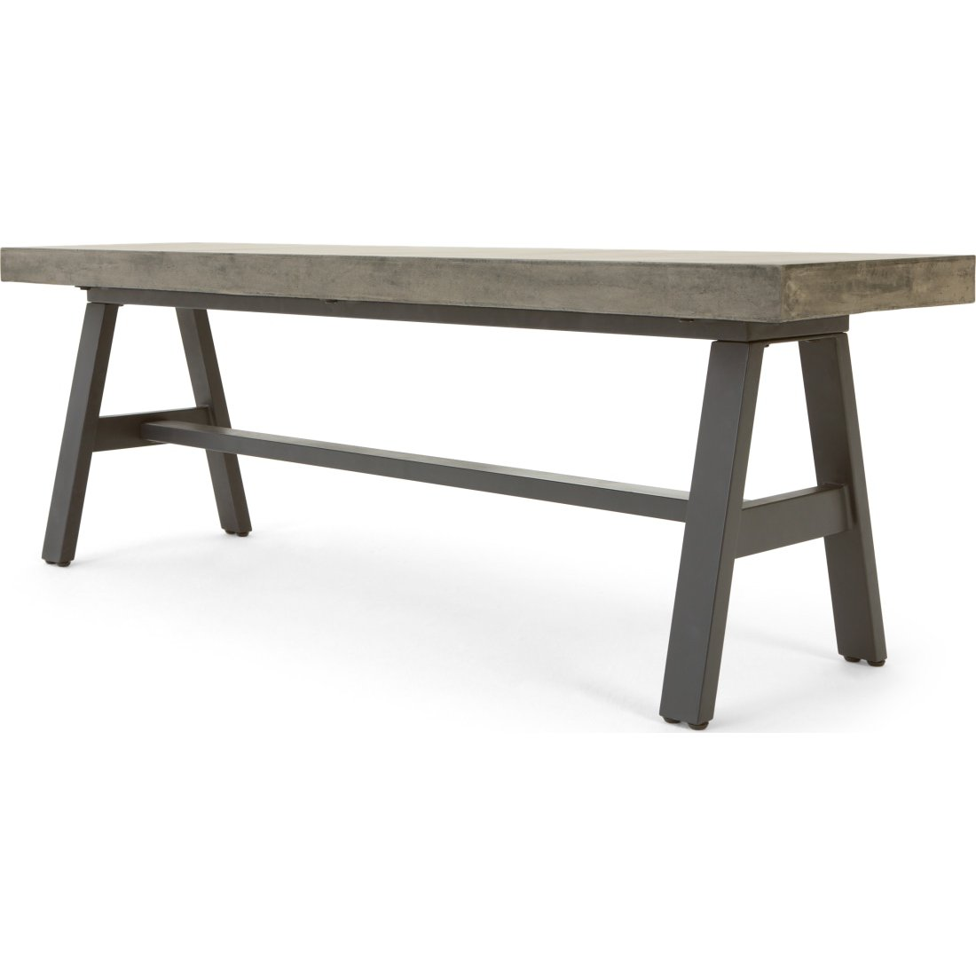 image-Edson Garden Dining Bench, Cement and Metal