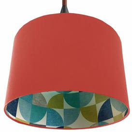 image-Cotton Drum Lamp Shade Brayden Studio Colour: Pink