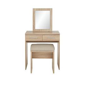 image-Milan Dressing Table, Mirror And Stool Set