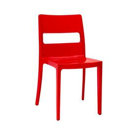 image-Castor Stacking Dining Chair Sol 72 Outdoor Seat Colour: Red