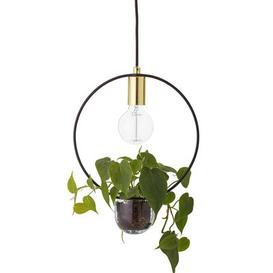 image-Pendant - / With flowerpot - ├ÿ 30 by Bloomingville Black,Gold