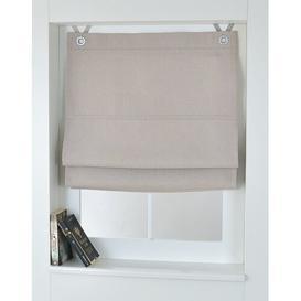 image-Bessy Room Darkening Roman Blind August Grove Size: 80cm W x 130cm L, Finish: Cream