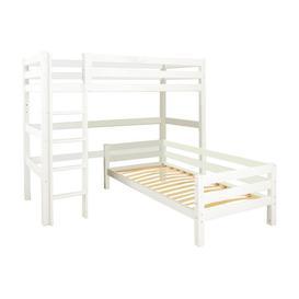 image-European Single L-Shaped Bunk Bed Hoppekids Finish: White