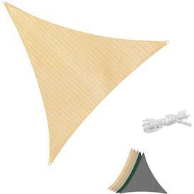 image-Myrick Triangle Shade Sail Symple Stuff Colour: Beige, Size: 3 m H x 3 m W x 3 m D