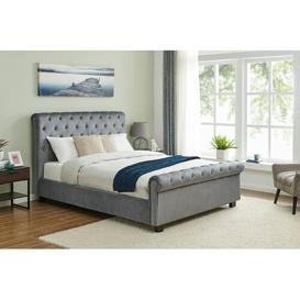 image-Hendrickson Upholstered Sleigh Bed Canora Grey Size: Double (4'6)