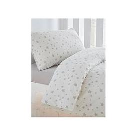 image-Silentnight Printed Stars Cot Bed Duvet Cover