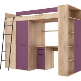 image-Coleridge European Single (90 x 200cm) Bed Frame with Drawers Isabelle & Max Colour (Bed Frame): Bright sonoma/Violet
