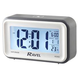 image-Cromley Jumbo Display Digital Alarm Clock Ravel Finish: Grey/White