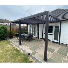 image-Rota 3m x 6m Gazebo Louvered Shuttered Roof System