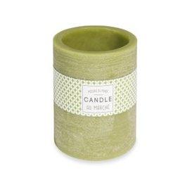 image-Green candle lantern H 12 cm