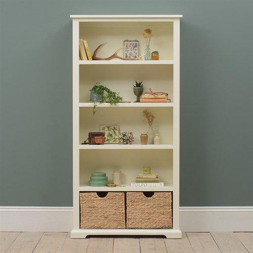 image-Farmhouse Painted Large Bookcase - Ivory