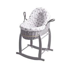 image-Clair De Lune Rachel Riley Bunny Bassinet With Deluxe Stand