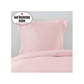 image-Non Iron Plain Dye Pink Continental Square Pillowcase Pink