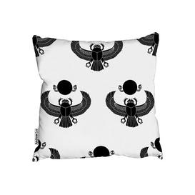 image-Scarab Silhouette Cushion with Filling Andrew Lee Size: 60 x 60cm