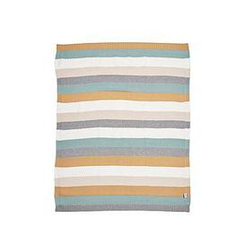 image-Mamas & Papas Knitted Blanket - Multi Stripe Blue
