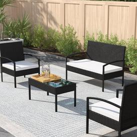 image-Cottage 4 Seater Rattan Sofa Set Zipcode Design