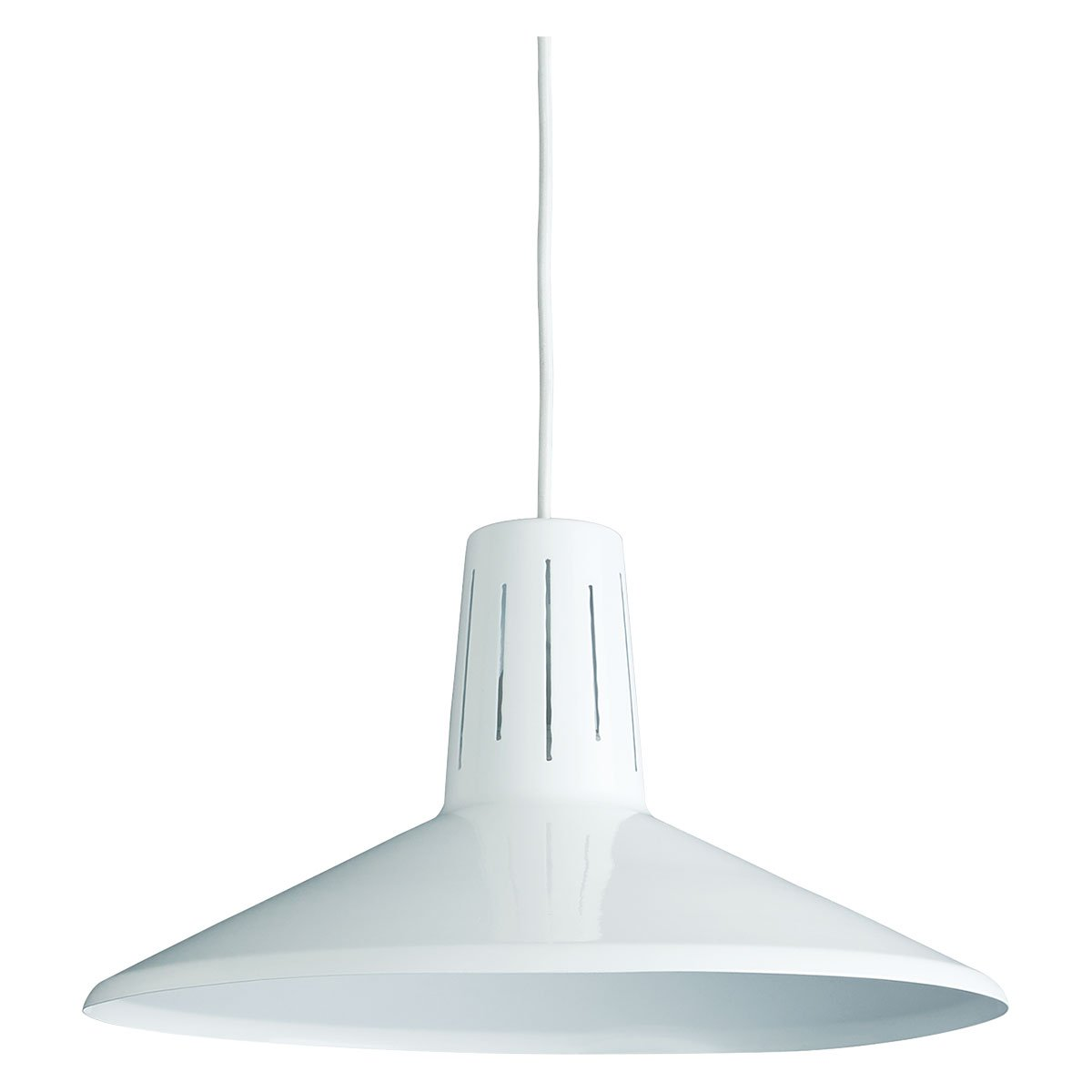 image-Seasalter White Metal Easy-To-Fit Ceiling Shade, White