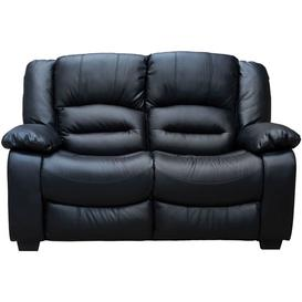 image-Vida Living Barletto Black Faux Leather 2 Seater Sofa