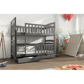 image-Truman Bunk Bed with Drawers Isabelle & Max Colour (Bed Frame): Graphite